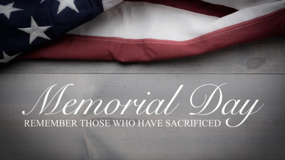 Memorial Day-May 29, 2021
